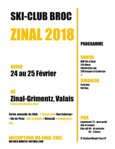 Week-end Zinal 2018